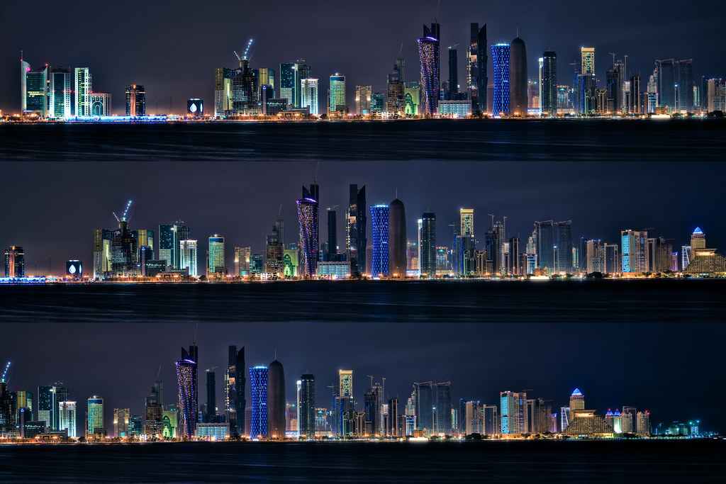 3d Interactive Wallpaper Doha Night Skyline I Finally Managed To Process My Hdr