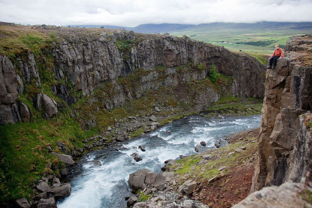 Iceland Crossing Cliff Top View Of The Lowland Valleys