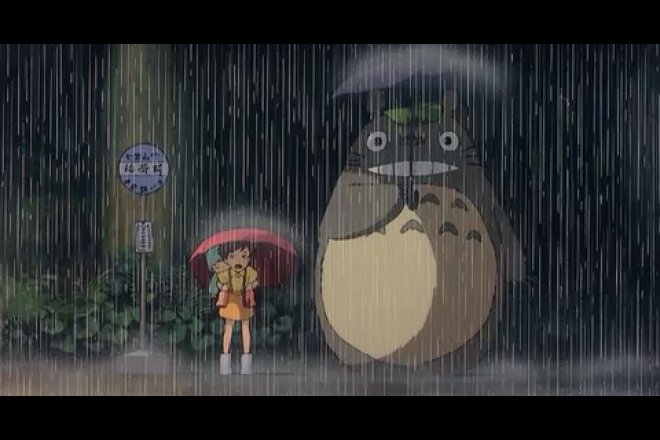 Get It Girl Wallpaper Totoro And Friends At The Rainy Bus Stop Some Movies You
