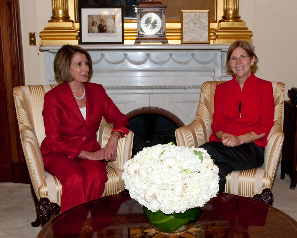 Bureau Pro Nancy Speaker Pelosi And Elizabeth Warren Speaker Nancy Pelosi