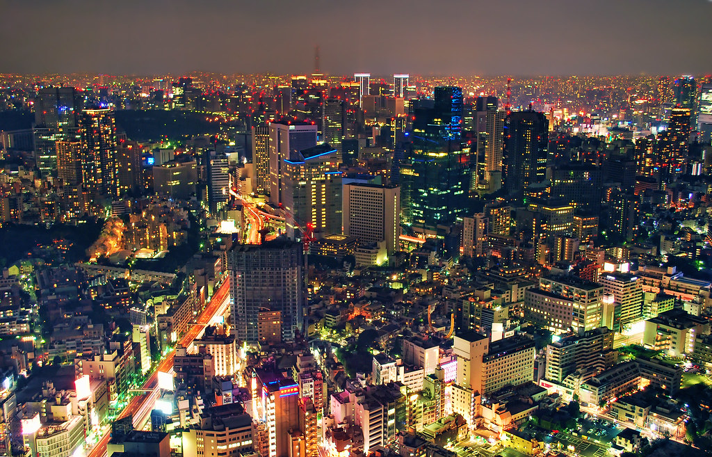 Ac Dc Wallpaper 3d Tokyo At Night Bird S Eye View View From The Roppongi