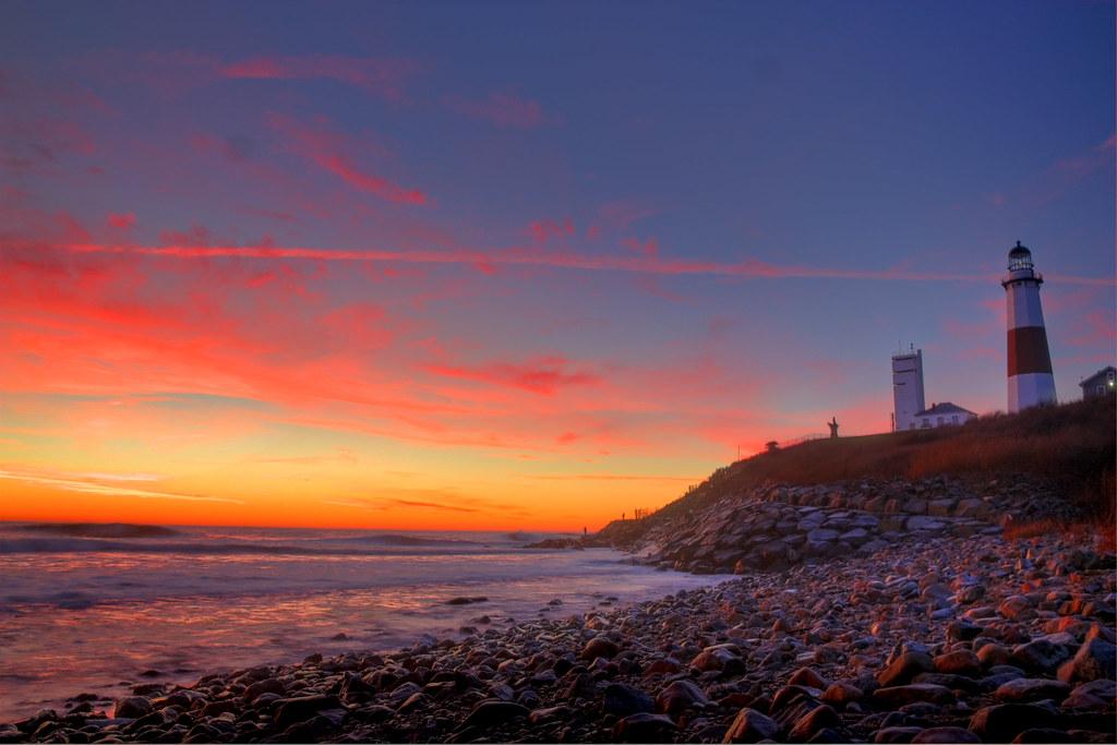 Sunrise 3d Wallpaper Montauk Point Sunrise Montauk Lighthouse Cliff