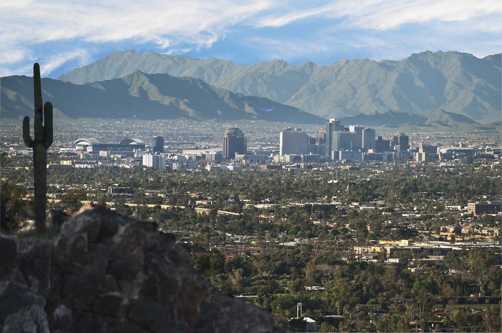 3d Wallpaper City View Phoenix Skyline Piestewa Peak The View Of Phoenix S