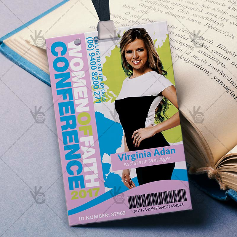 Women Conference - Premium ID Card PSD Template Women Conf\u2026 Flickr