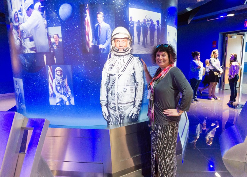 That's Me with John Glenn! Okay, an Image of John Glenn. Press event for Heroes and Legends at the Kennedy Space Center Visitor Complex, Kennedy Space Center, Fla., Nov. 10, 2016