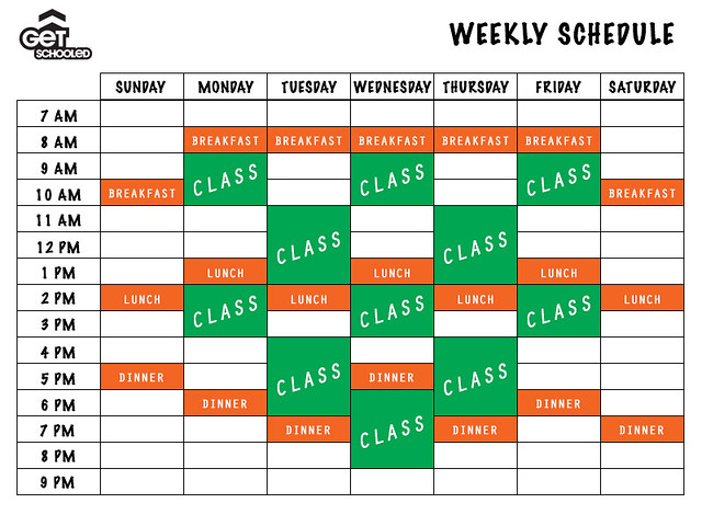 Building Your College Class Schedule