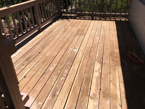 Frantic So Much Flickr Sanding A Deck A Pole Sander Sanding A Deck To Remove Paint Deck By Cogdogblog Deck Sanding Deck