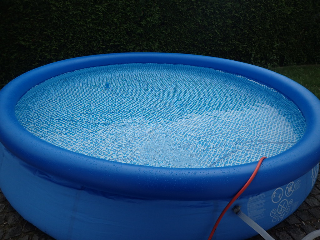 Pool Abdeckplane Gummizug Intex Easy Pool Set Im Test Sarahs Bunte Welt