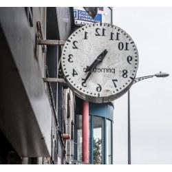 Small Crop Of Strange Wall Clock