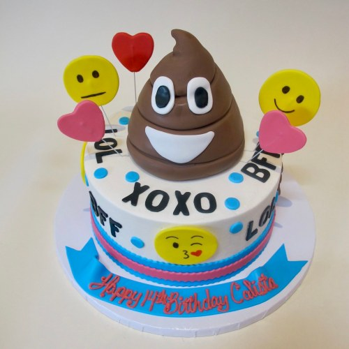 The Poop Emoji Birthday By Cakes Tinley Park Cake Walmart Images