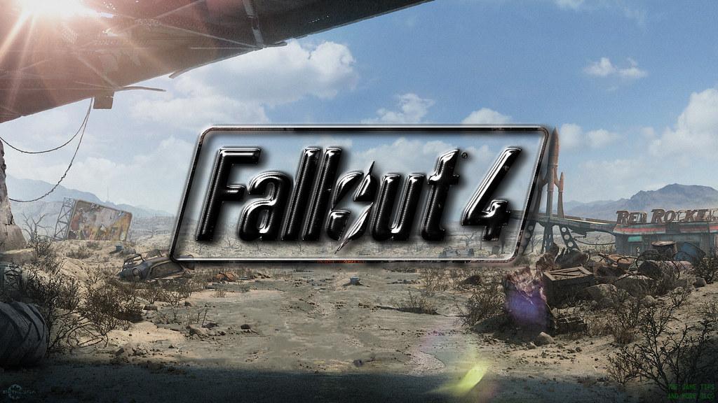 Fallout 4 Wallpaper Hd Fallout 4 Wallpaper Black Metal Logo On Red Rocket Truc