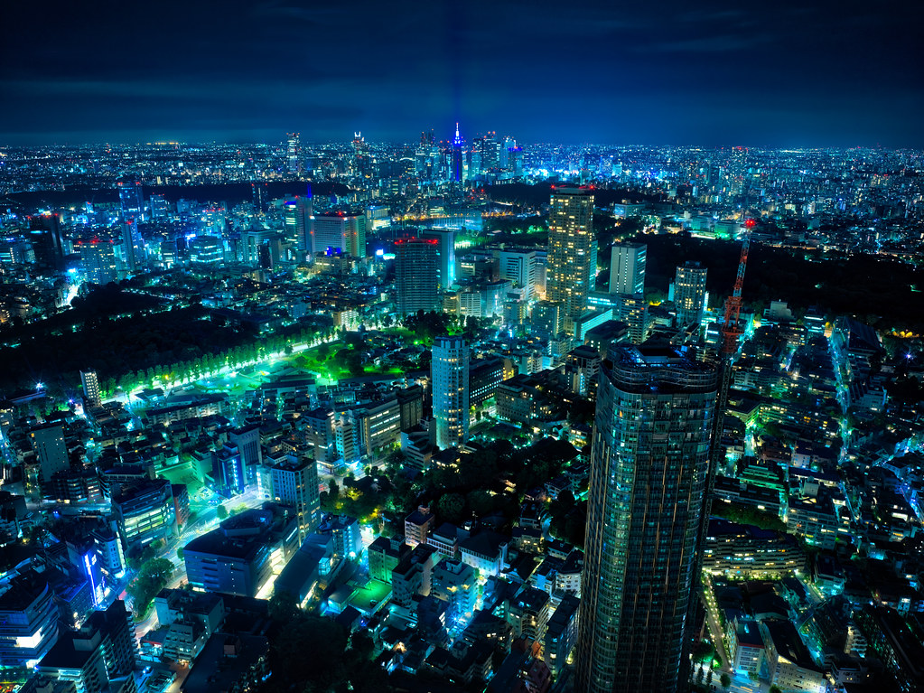 3d Wallpaper Desktop Background A Blue Blue Night In Tokyo I Got Back To My Hotel Room