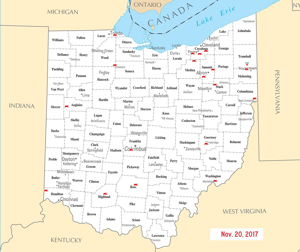 Kmart World Map Ohio Kmart Map 11 20 2017 Ohio Kmart Locations As Of 11