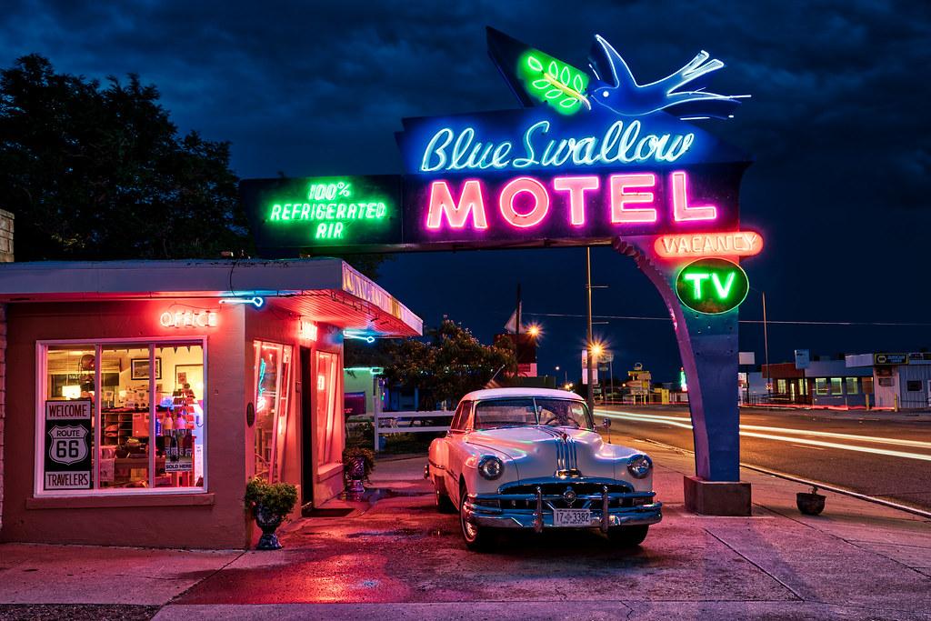 Blue Neon Hd Wallpaper The Blue Swallow Motel Tucumcari Nm Along Route 66 Flickr