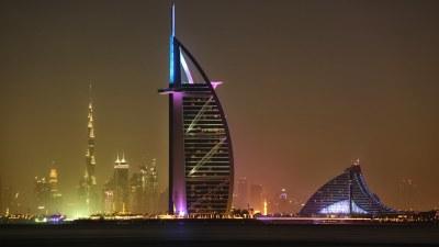 Burj Khalifa, Burj Al Arab, Jumeirah Hotel...   View from ...