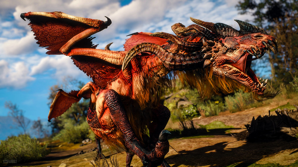 3d Wallpaper Ideas The Witcher 3 Wild Hunt Angry Dragon Screenshots Of
