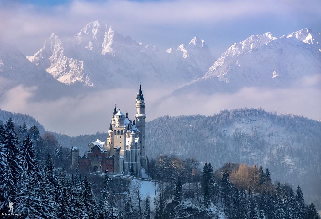 3d Christmas Wallpaper Backgrounds 2015 Winter Magic Bavaria Reedit Neuschwanstein Castle