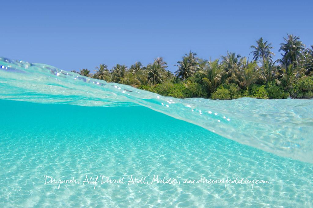 D Dhigurah Alif Dhaal Atoll Maldives Beach At Dhigurah