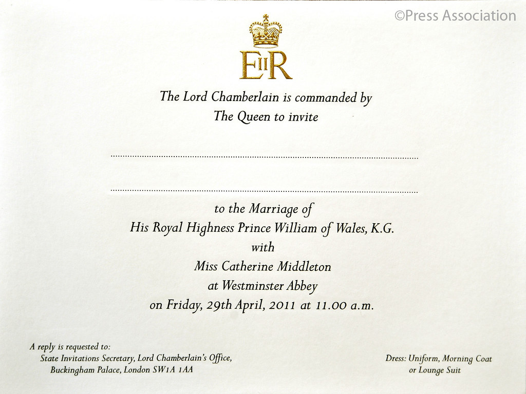 royal wedding invitation Royal Wedding Invitation by The British Monarchy