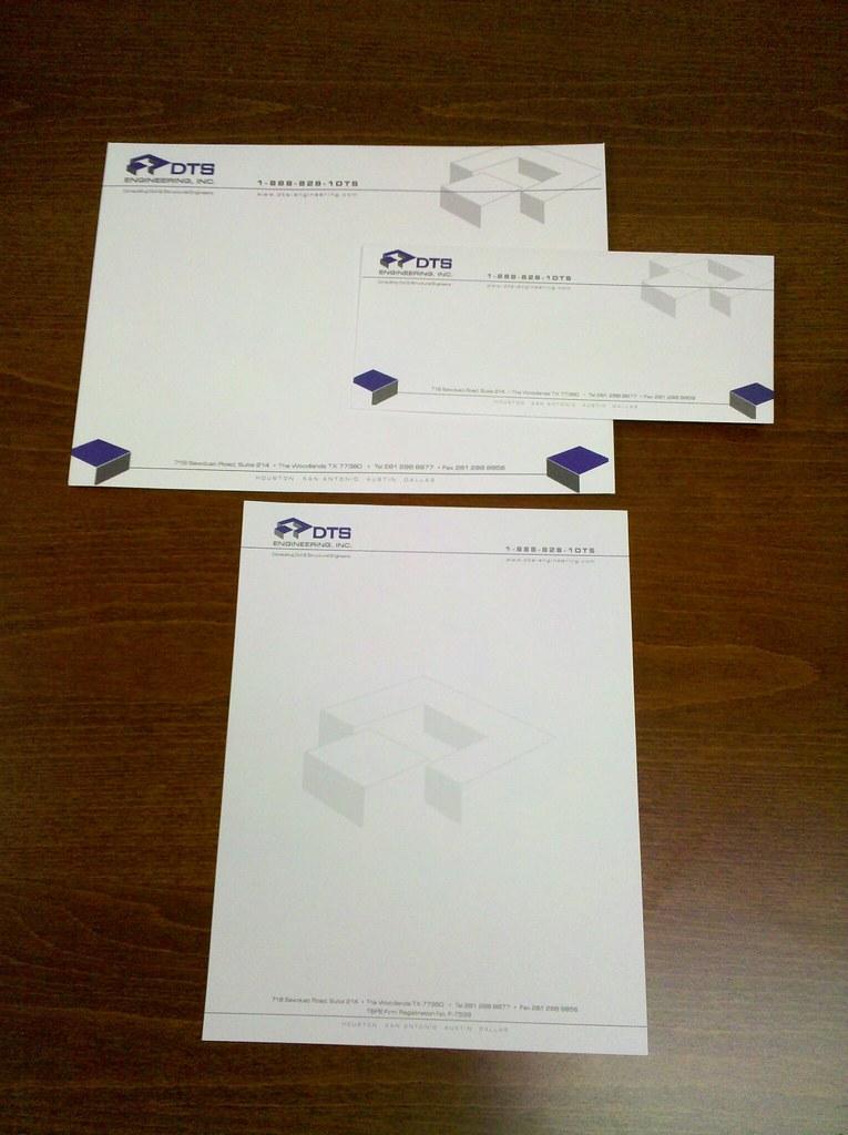 Letterhead and Envelope Design - DTS Custom designed stati\u2026 Flickr