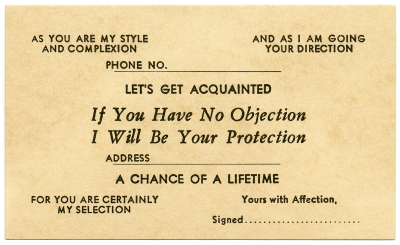 Let\u0027s Get Acquainted, If You Have No Objection This is one\u2026 Flickr - i have no objection