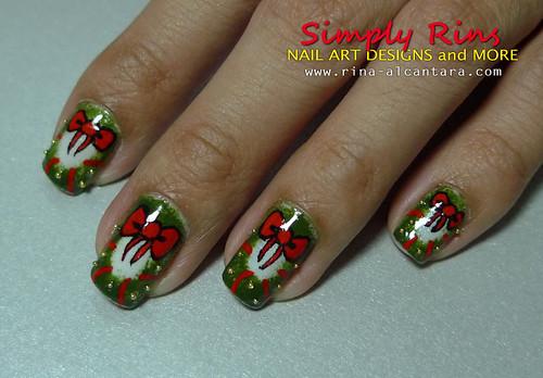 Christmas Nail Art Wreath 08 Rina Alcantara Flickr