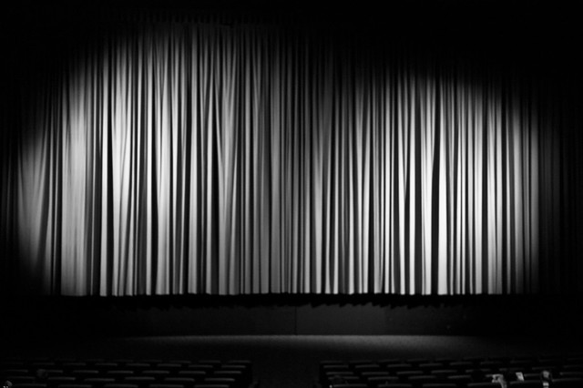 Black and white theater curtains galleryhip com the