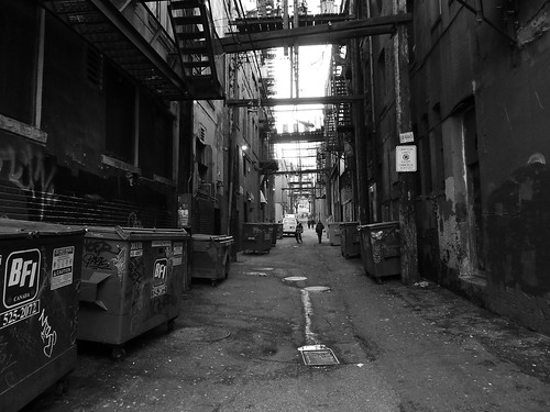 World Map Wallpaper Black And White Scary Alley Alleyway Somewhere In Downtown Vancouver