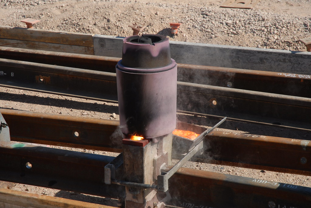 20130520 Exothermic Rail Welding, also known as Exothermic\u2026 Flickr - thermite welding