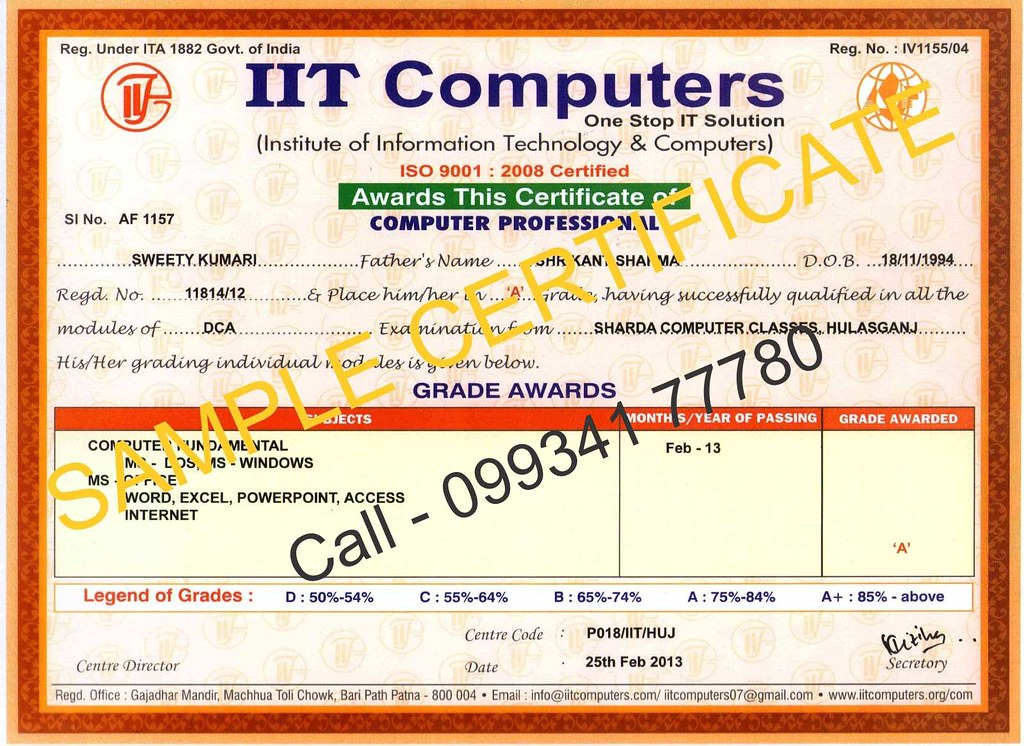 Computer Certificate Format - Fiveoutsiders - computer certificate format