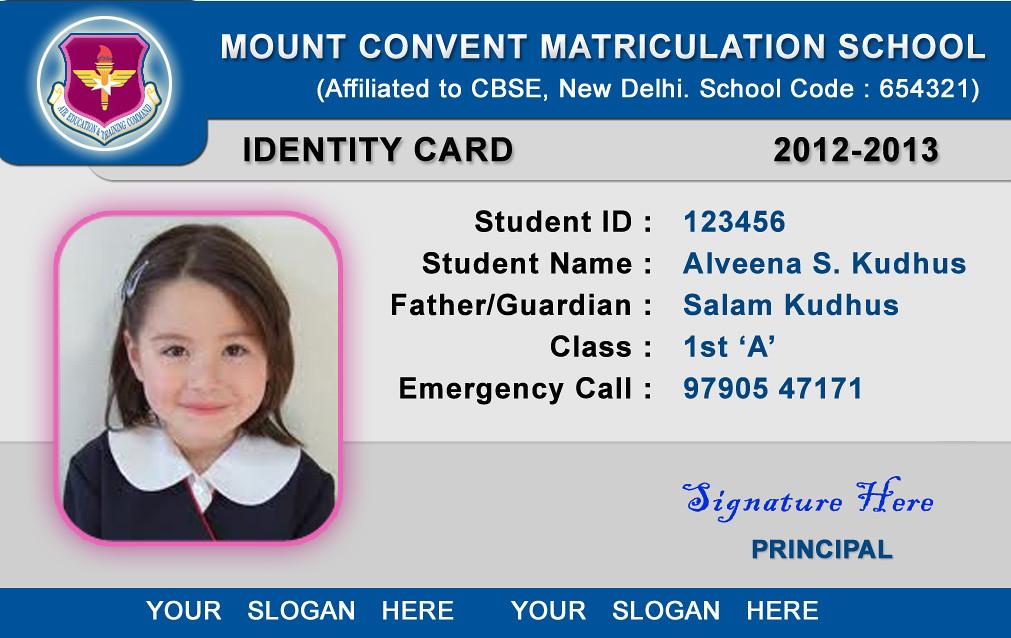 School ID Card Templates School ID Card Template - Horizon\u2026 Flickr