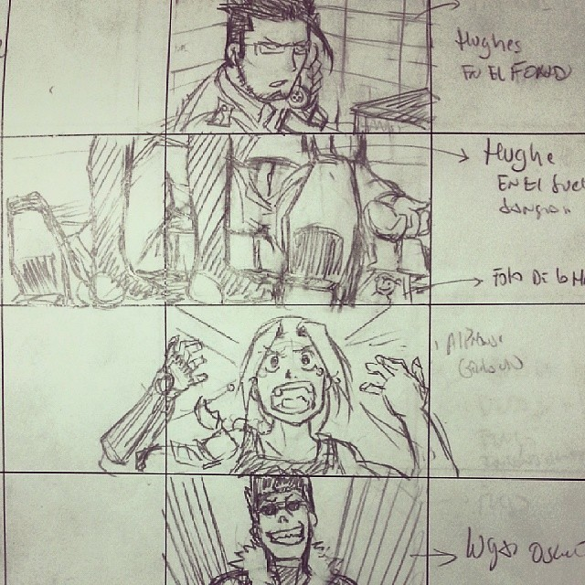 Storyboard full metal alchemist #art #anime #arte #draw #d\u2026 Flickr - anime storyboard