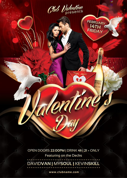 Valentines Day Flyer Template You can DOWNLOAD the PSD fil\u2026 Flickr