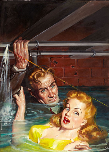 Black Vintage Wallpaper Plumbing Problems Artist Desoto James Vaughan Flickr