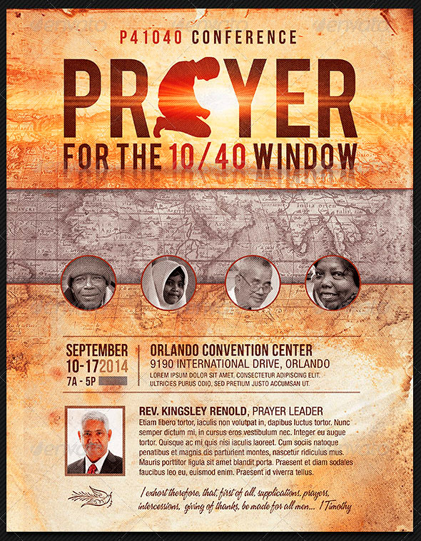 Prayer Conference Church Flyer Template The Prayer Confere\u2026 Flickr