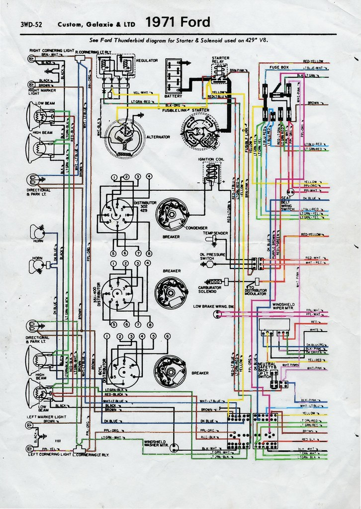 1971 Ford Wiring Diagram - New Era Of Wiring Diagram \u2022