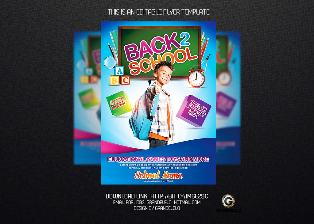 Kids Back to School Flyer / Poster Template YOU CAN DOWNLO\u2026 Flickr - back to school flyers