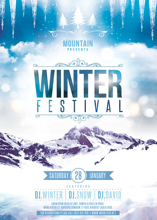 Winter Festival Flyer Template You can DOWNLOAD the PSD fi\u2026 Flickr - winter flyer template