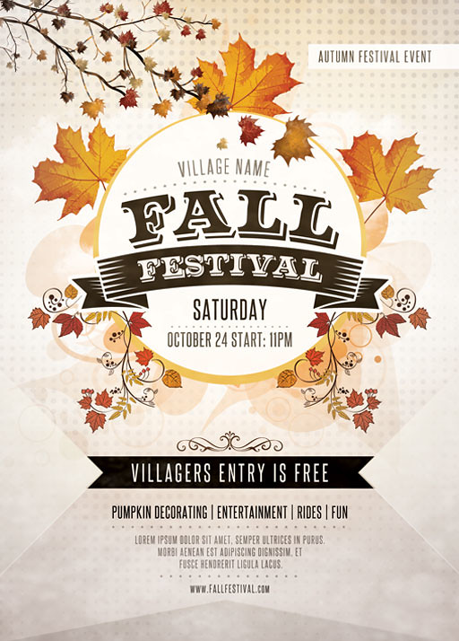 Fall Festival Flyer by Nathan Knight Design on Creative Market - flyers and brochures templates