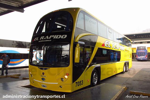 El Rápido Internacional | Santiago | Metalsur Starbus 2 - Scania / PBS999 - N° 7053