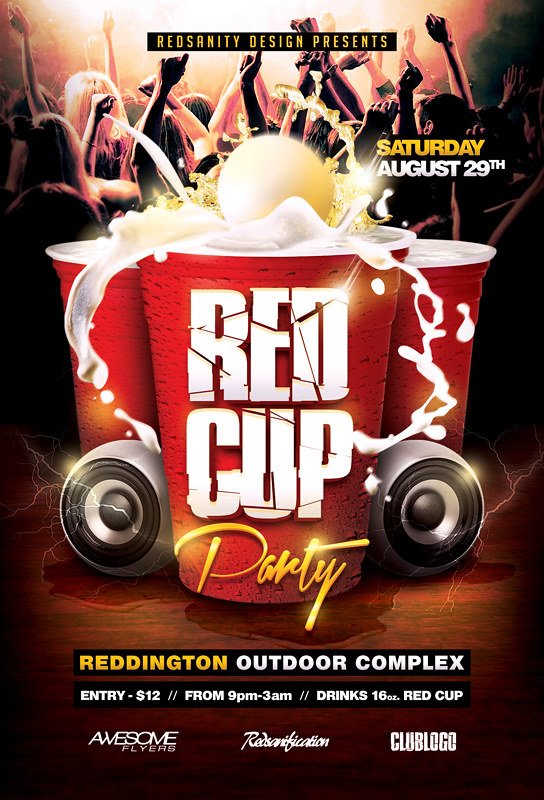 Red Cup Party Flyer PSD Template DOWNLOAD the Photoshop fi\u2026 Flickr - party flyer