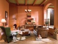 Southwesten Living Room | Walls: Aztec Brick 230D-5 ...