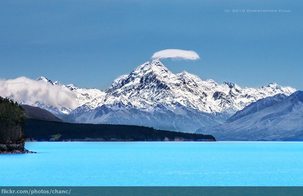 3d Colour Wallpaper Mount Cook And Lake Pukaki New Zealand Aoraki Mount