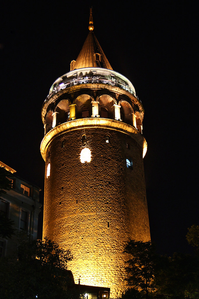 All White Iphone Wallpaper The Galata Tower By Night Istanbul Istanbul Turkey