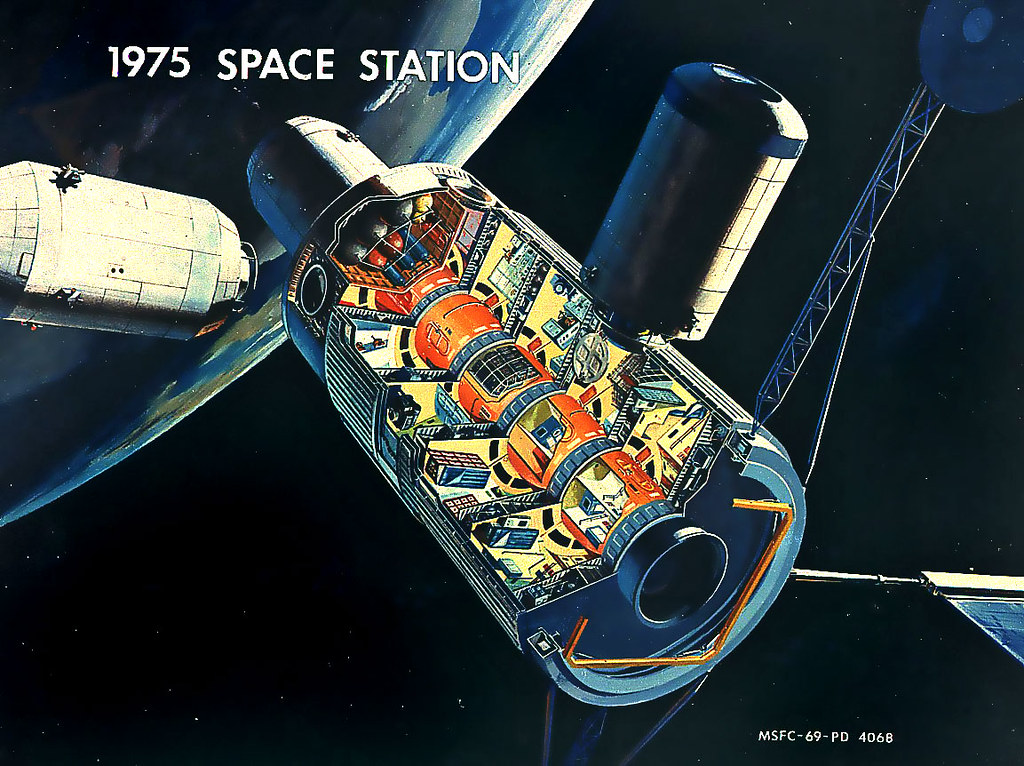 3d Japanese Wallpaper Advanced Space Station Design Proposal Video Link