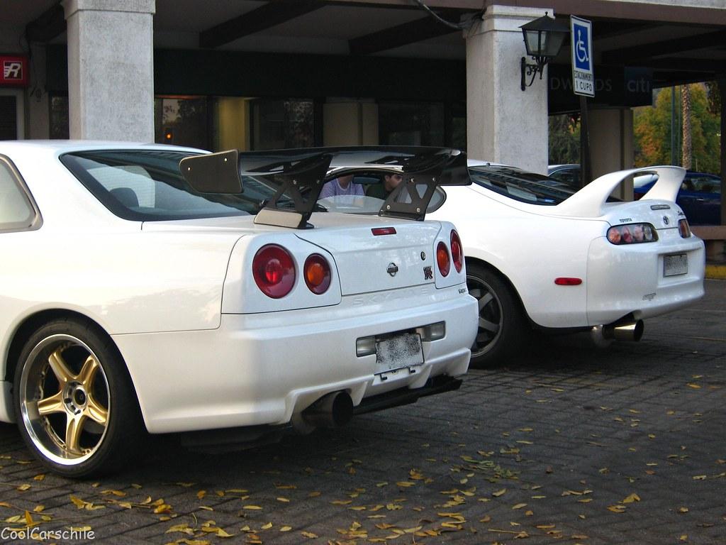 Cool Cars Drifting Wallpapers Hd Nissan Skyline Gt R34 V Spec Y Toyota Supra