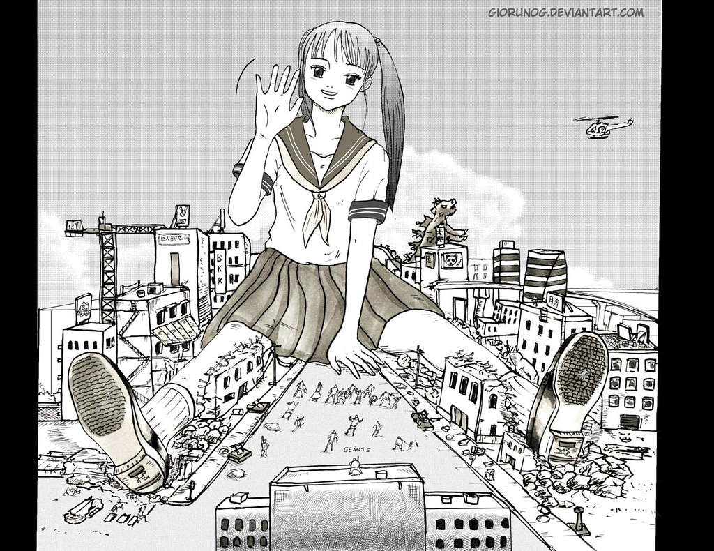 Arte Manga Here Say Hi Giantess Girl Say Hi To Her More Gts At