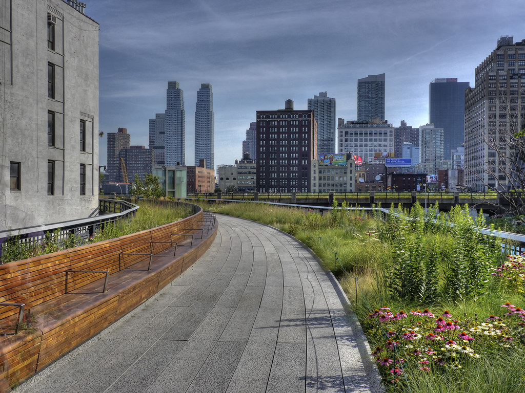 Blue Sky 3d Wallpaper Nyc Quot Highline Quot Scene From The Nyc Highline View The