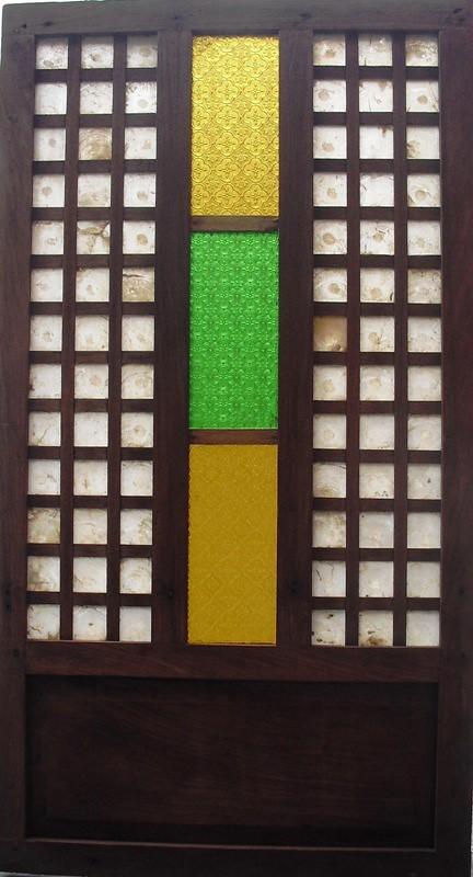 Wallpaper Glass 3d Capiz And Colored Glass Window Panel Series 07 Capiz