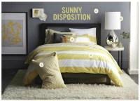 Gray + yellow bedroom: Benjamin Moore 'Shadow Gray' in Wes ...
